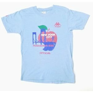 Tops - Vintage New York City Marathon 1981 Kappa T Shirt